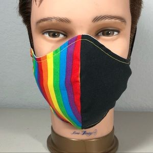 Other - LGBT+ GAY pride parade rainbow face mask Large sz.